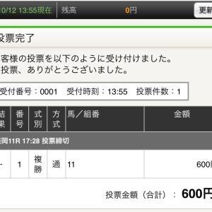 10月12日の結果!!南部杯!!