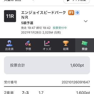 1月26日の狙い打ち!!本命編1