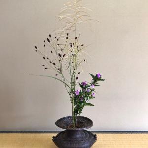 秋草三種のお生花
