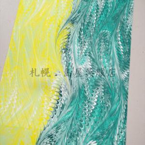 島屋オリジナル 墨流し染め帯揚げ 完成しました。