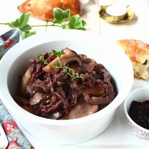 余ったジャムで安いお肉をおいしく! ご飯にもパンにもあう、洋風牛ごぼう。