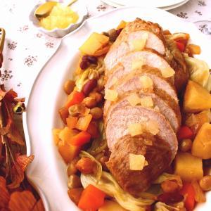 ひと鍋で作れる秋のごちそう! 豚もも肉とお豆のポットロースト~りんごジャム仕立て