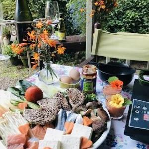 自家栽培シイタケとワイルドマッシュルーム