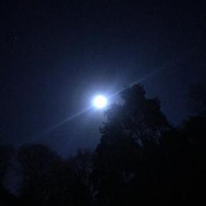 クリアな空に美しい満月、今週末は雪予報!