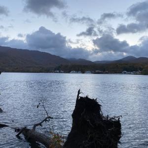 紅葉の奥入瀬渓流から暴風雨の十和田湖キャンプへ