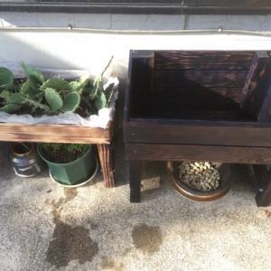 庭日記 9月 商標権に抵触しそうなウッドプランターと土のう袋の米ぬか堆肥