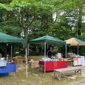 泰勝寺庭園でのお茶市に出店しました