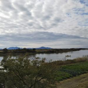紅葉サイクリング114Km 加茂市水源池 サケ漁も