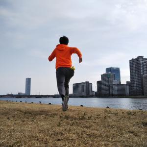 ジョギング3発 新潟島1周×2 ホトケノザ