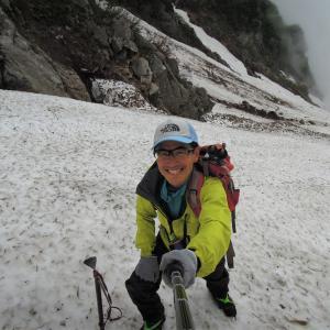石転び沢雪渓から北股岳登山 飯豊連峰