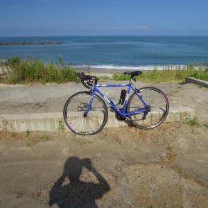 瀬波海岸まで往復120Kmサイクリング
