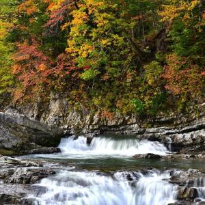 秋模様、芦別・三段滝
