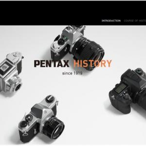 ペンタックスの歴史をまとめた「PENTAX HISTORY」を公開