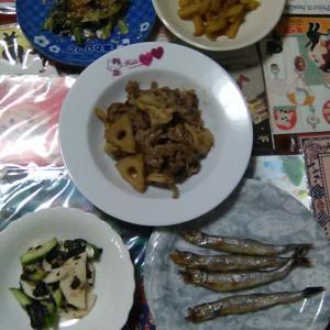 豚肉とれんこんと舞茸の味噌炒め