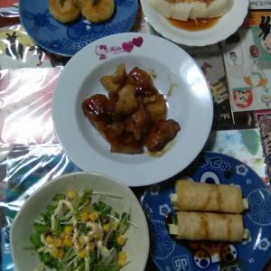 鶏肉とれんこんの黒酢炒め