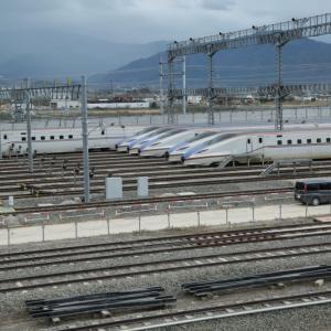 台風19号で被災した北陸新幹線E7系の1か月後の姿@長野新幹線車両センター