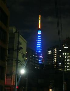 ライトアップ東京タワー