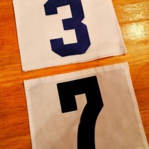 姉弟それぞれの背番号