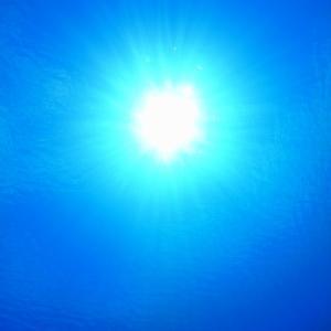 水深10メートルから上を見上げると
