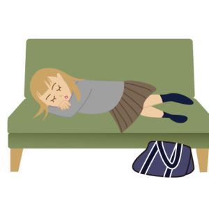 イラスト~ロビーで寝てはいけません~