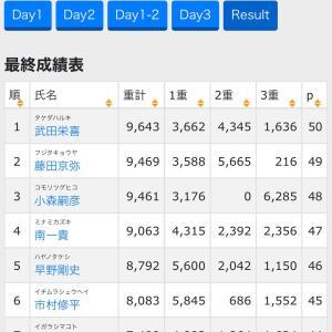 JBTOP50 遠賀川戦結果と私の結果…