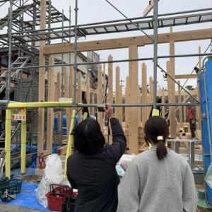 念願の上棟【岐阜県の新築注文デザイン住宅】