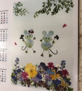 押し花カレンダー No.7.8.9.10