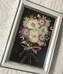 レインボーペーパーシートに押し花を~