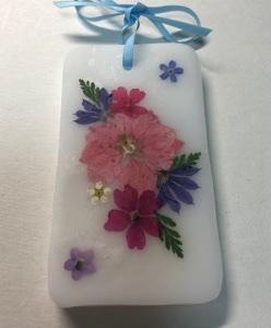 アロマワックスバー&クリスタルボックスハート型(押し花)