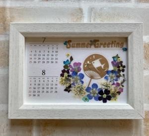 押し花カレンダーとドームフックホルダー!