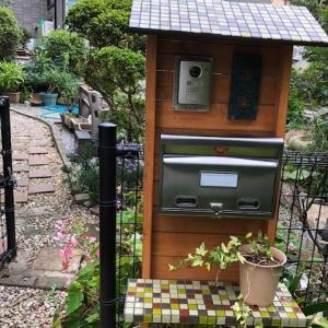 手作りの郵便ボックスコーナー