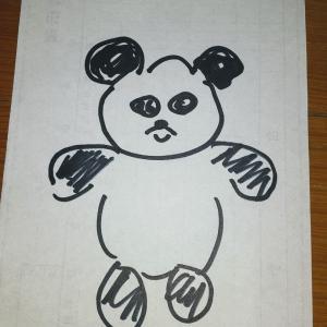 【パンダ描いてみました】