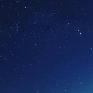 昨夜の満天の星空とお月さま