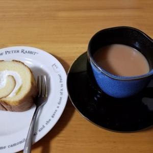 ◆ローソンのプレミアムロールと紅茶で