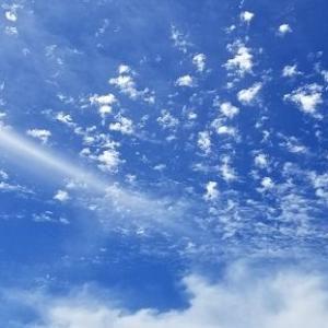 ◆星空の様な青空・・・ユニクロのマスク