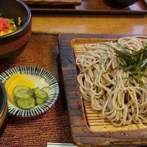 ◆ざる蕎麦と 鰻ちらし