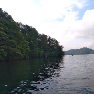 野尻湖 まだまだ修行が必要ですわ。。(;´д`)トホホ