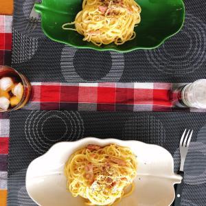 おうちごはん   ルーも作った豆乳カルボナーラスパゲティ