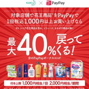 PayPay×花王 結局、二人して買いました
