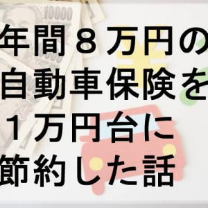 年間8万円の自動車保険を1万円台に節約できた話【節約】