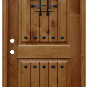 輸入木製玄関ドア古い町並みで英国、プロヴァンスの玄関では重厚な木製アンティークド
