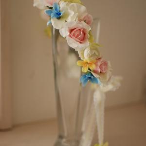 お子様の花冠とリストレット~アーティフィシャルフラワー~