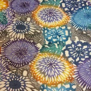 江戸紅型+大島紬の夏洒落袋帯が特価で入荷しました