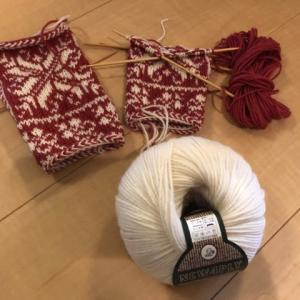 やっと白い毛糸買ってきて完成