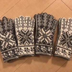 嶋田さんの手袋2ペア完成