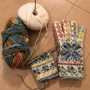 右手編めた