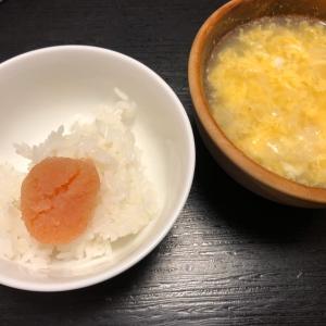 卵スープとごはんと明太子
