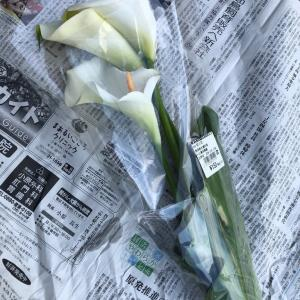 産直市場で花を買う
