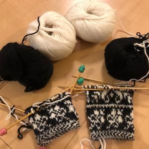 嶋田さんの手袋編み始めてしまった