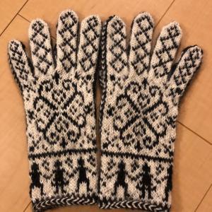 自分デザインの手袋完成